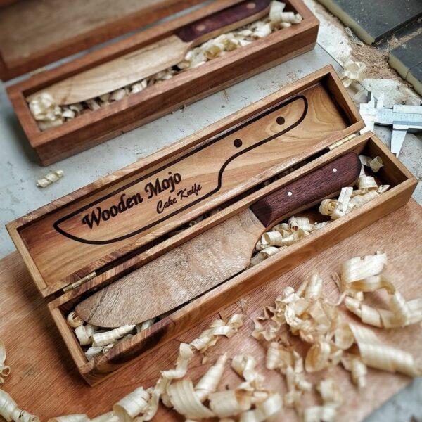wooden cake knife